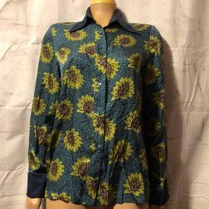 Lou Lou de la Falaise 100% silk blouse size 8